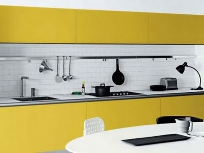 Black-and-Yellow-Kitchen-Decor-by-Mesons