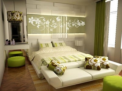 Colorful-Modern-Green-Bedroom-Paint-Colo