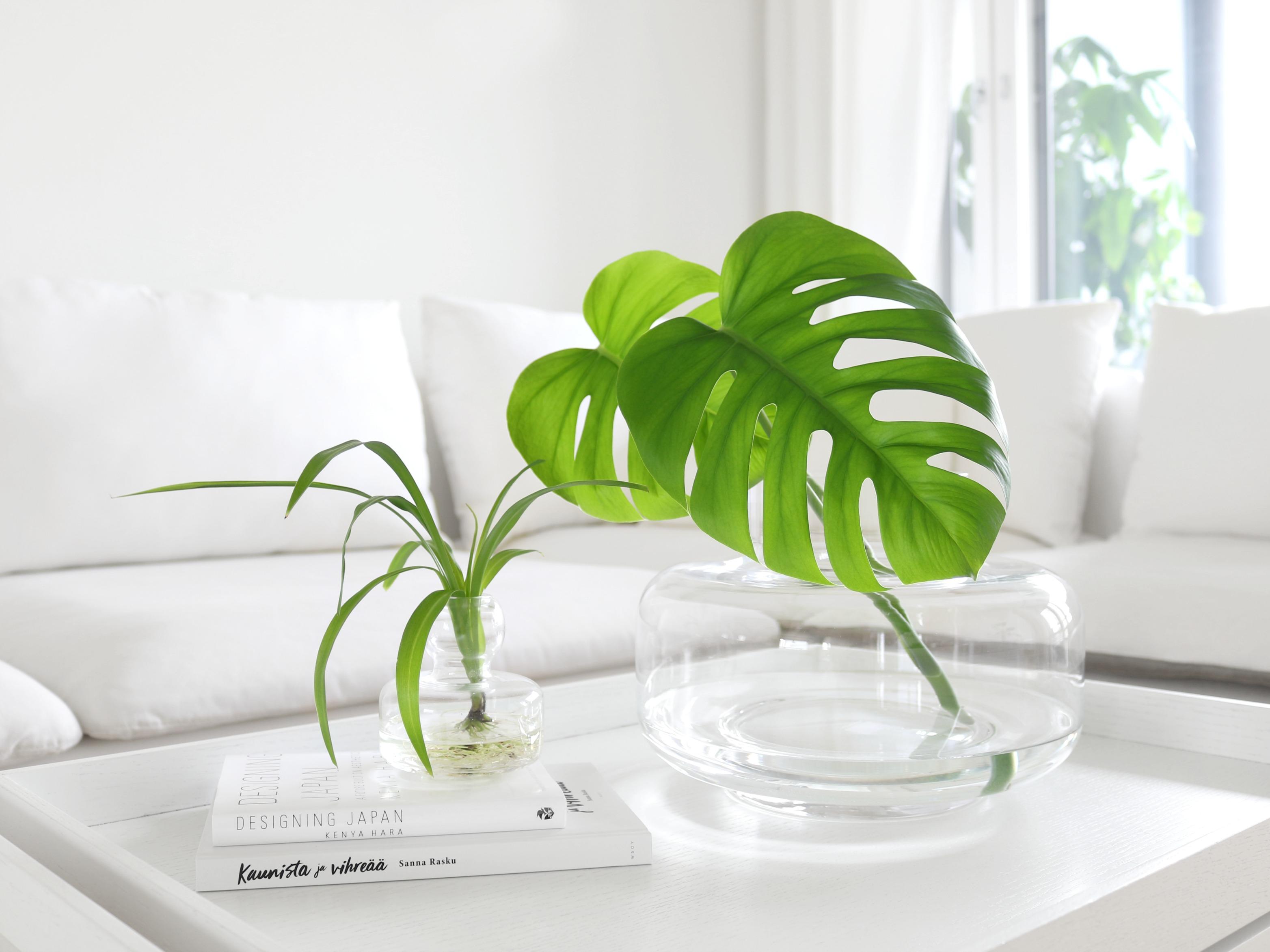 Marimekko Urna Flower maljakko, minimalistinen valkoinen sisustus