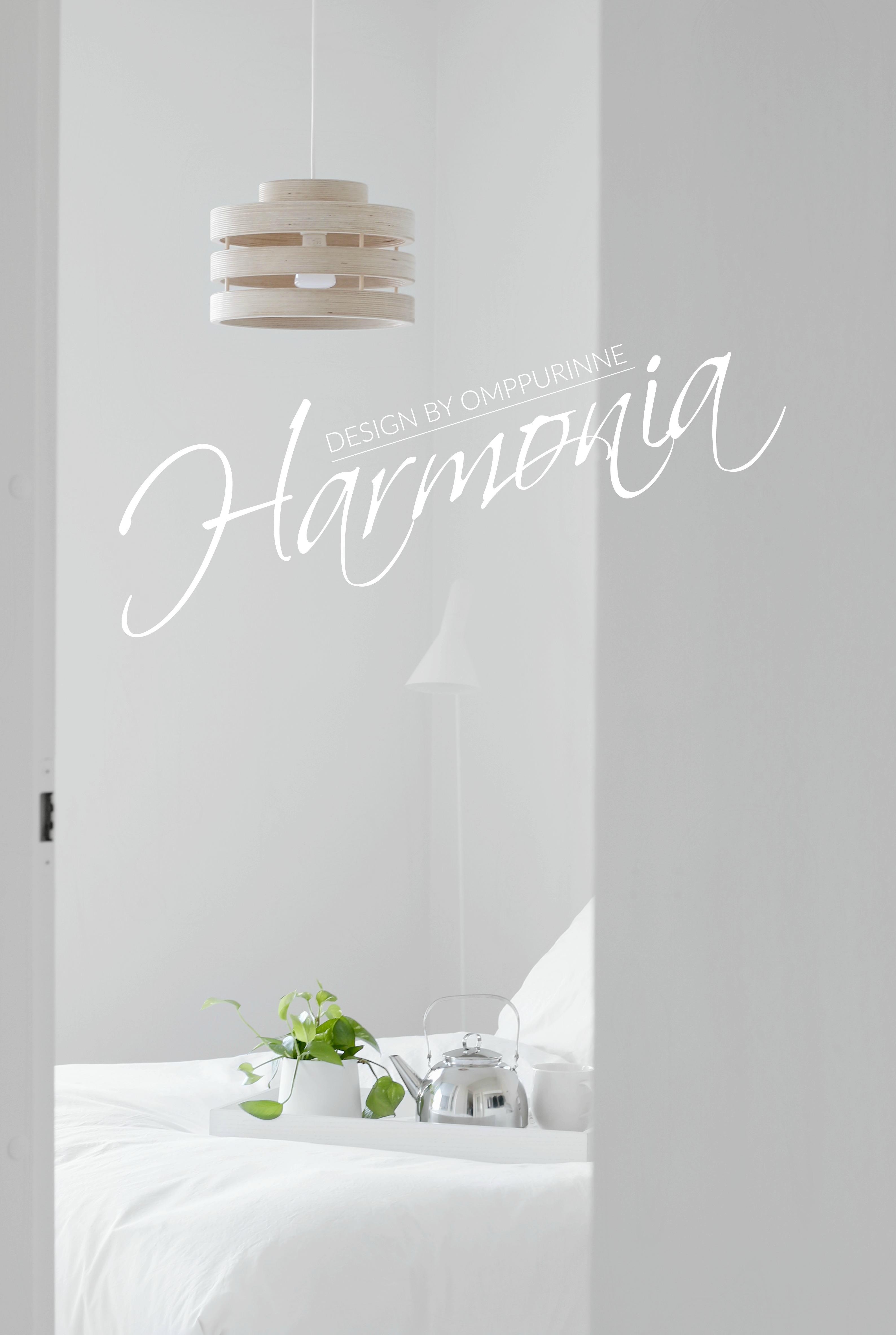 Harmonia designvalaisin suomalainen omppurinne koivuvaneri omakotivalkoinen