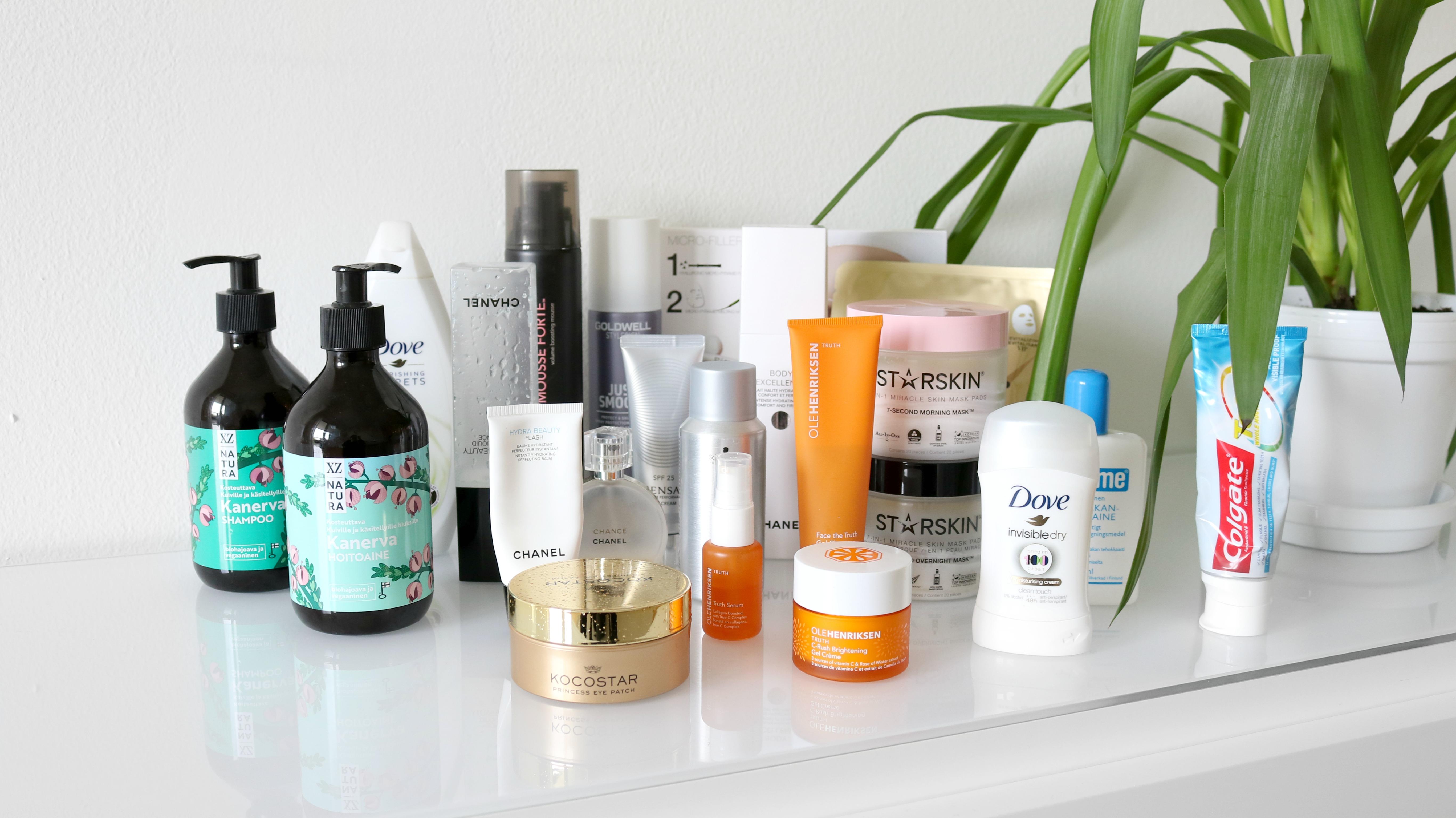 Kosmetiikkatuotteet toivepostaus kokoelma omakotivalkoinen