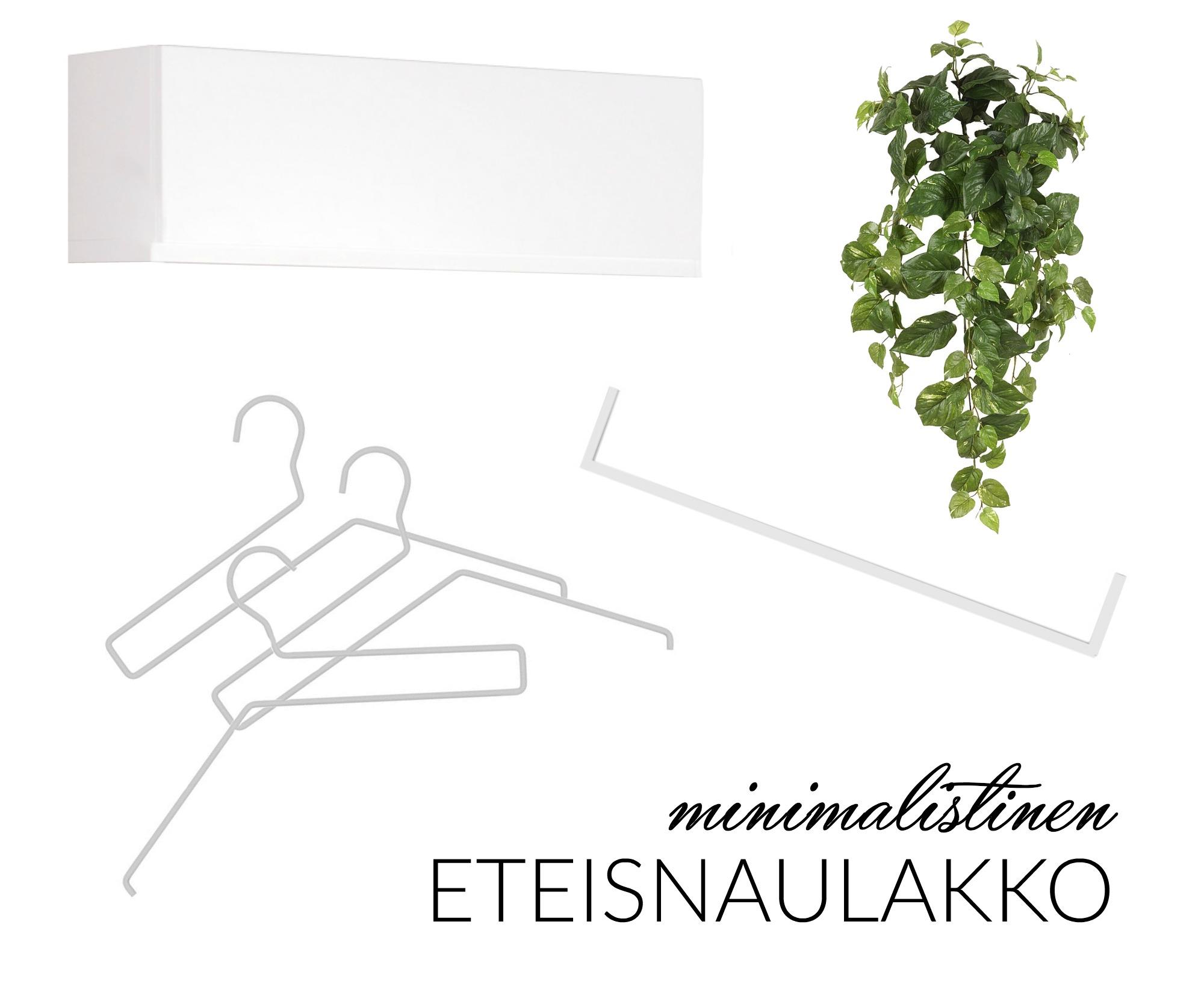 DIY minimalistinen eteisnaulakko omakotivalkoinen epoq Integra Bylassen Frame Rail